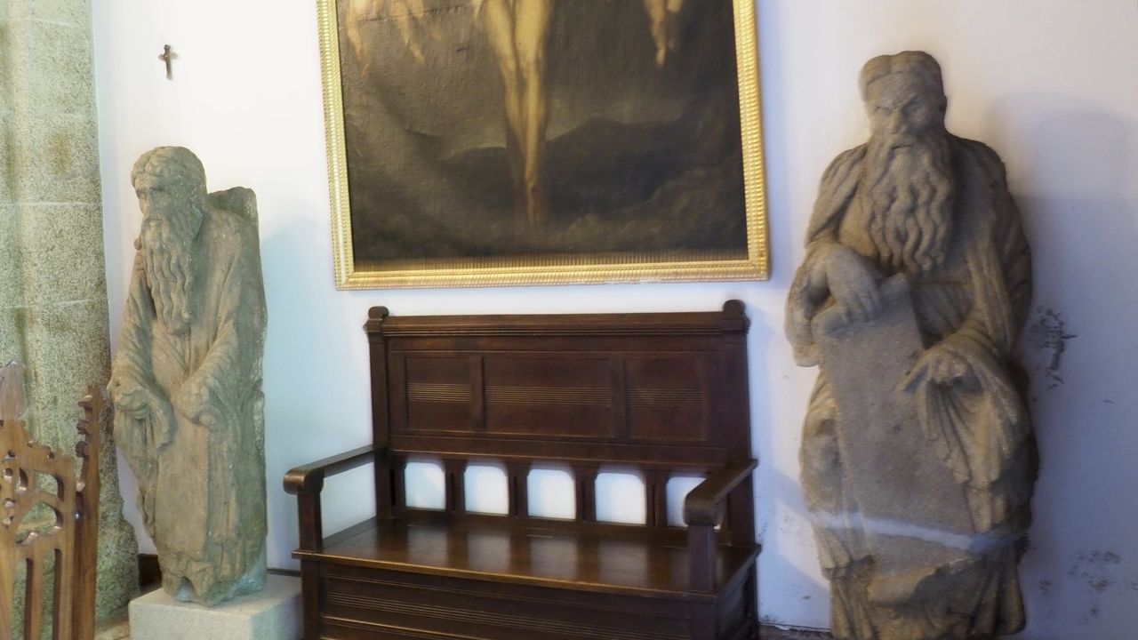 Bienes inseparables del pazo de Meirás.Estatuas del maestro Mateo son alguno de los bienes que están protegidos por las leyes gallegas