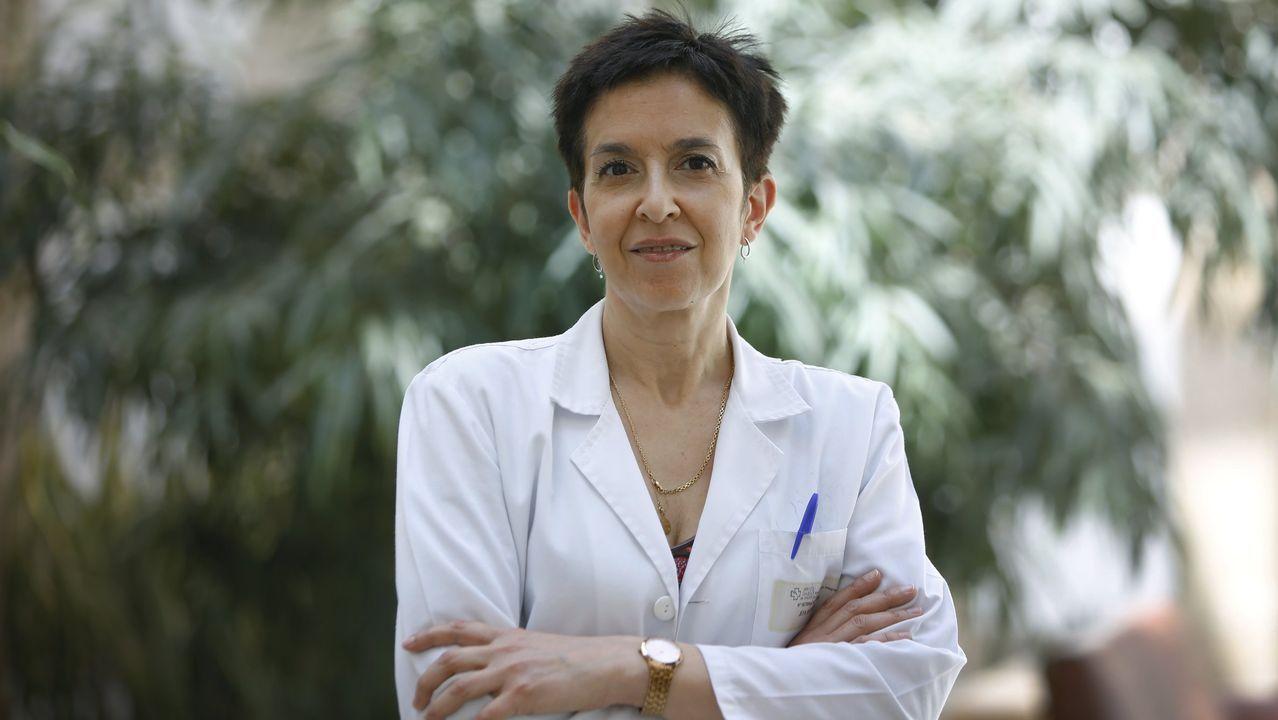 La doctora Victoria de Rojas, presidenta de la Sociedad Gallega de Oftalmología