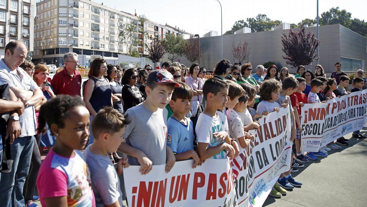 Manifestación ante el conservatorio de música del Principado.Los alumnos de Asturias en las pruebas de selectividad
