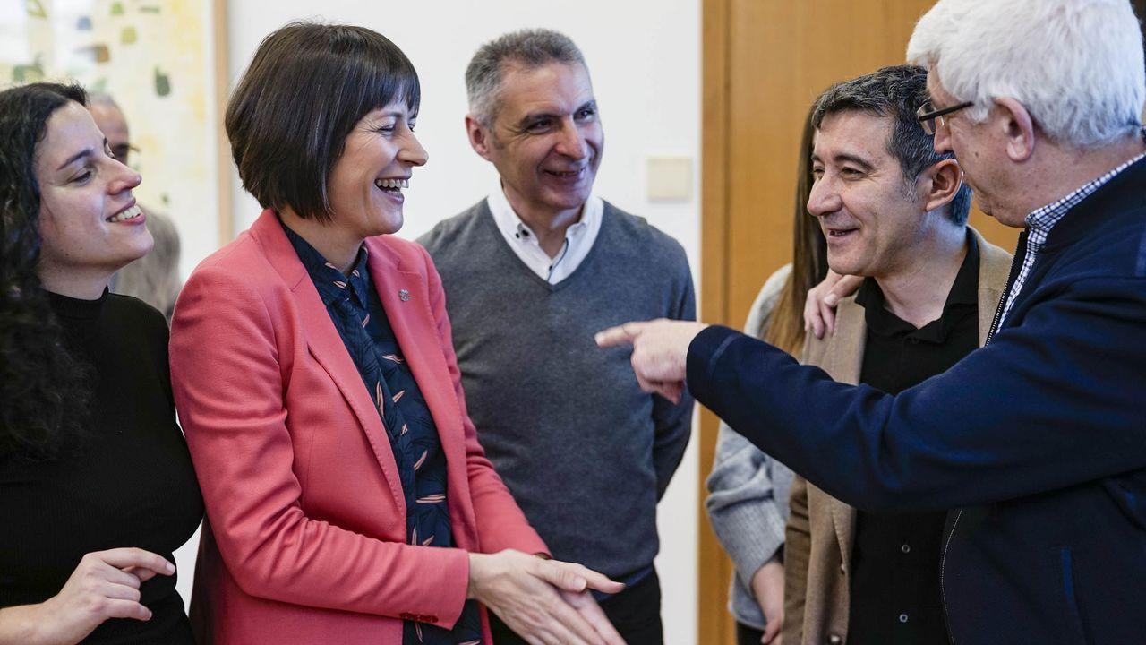 Presas, Pontón, Seara, Tabarés y Carballido, tras la presentacion de la candidatura nacionalista