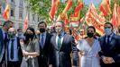 el líder de Vox, Santiago Abascal, encabezó la delegación del partido que presentó este jueves ante el Tribunal Supremo el recurso contra el indulto del Gobierno a los líderes independetistas encarcelados