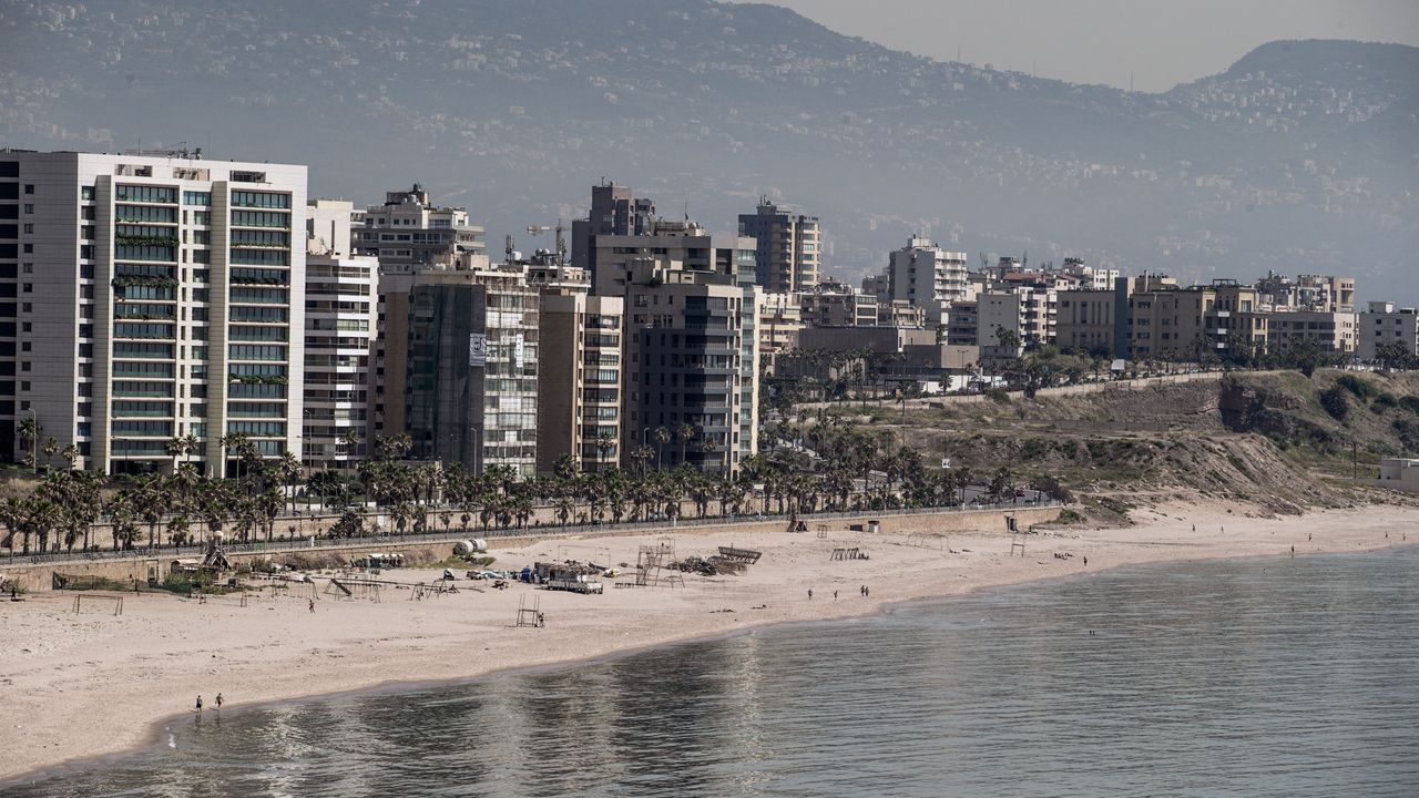 Playa de Ramlet al-Bayda, en Beirut (Líbano)