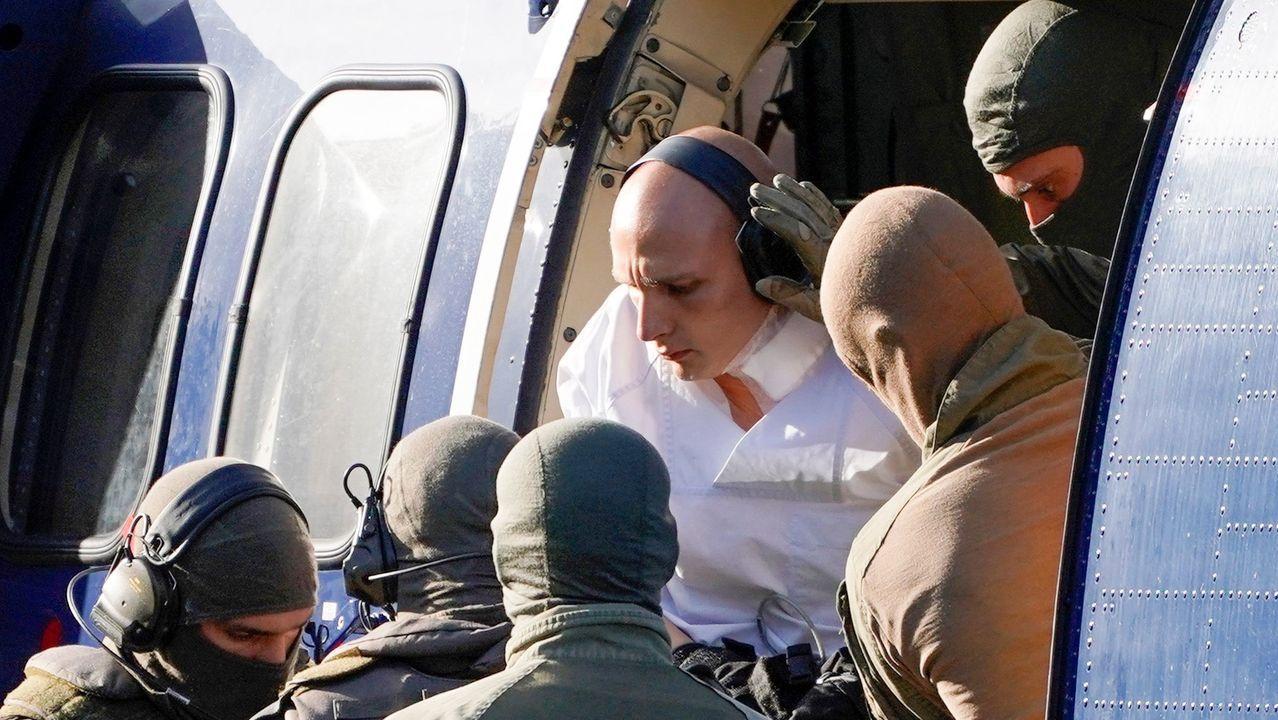 Ell neonazi Stephan Balliet fue trasladado en helicóptero hasta el Tribunal Supremo Federal en Karlsruhe