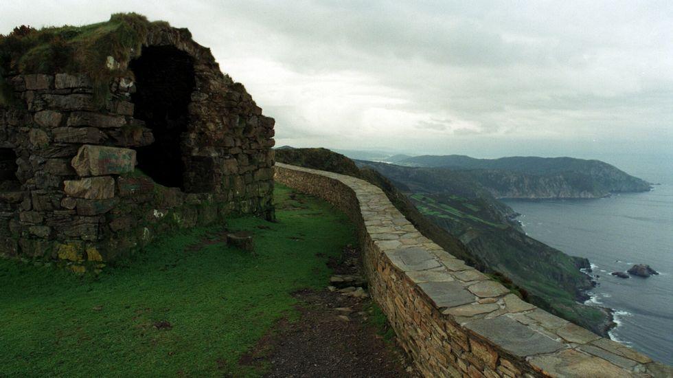 Calel escolleu o castelo para a foto, polas «Crepis novoana» e as «Linaria aguillonensis».