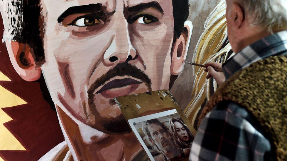 Un artista en su taller.