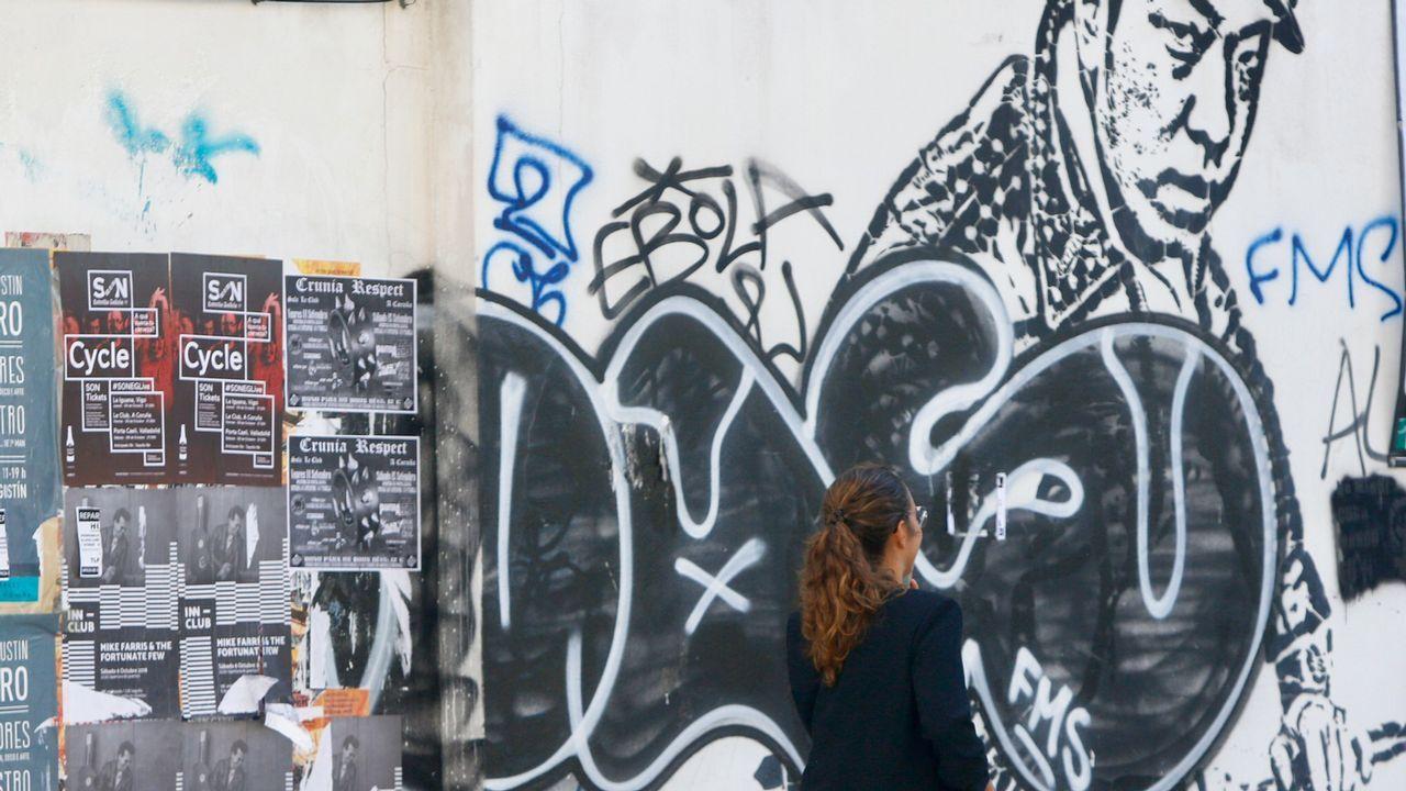 Pintada en A Coruña