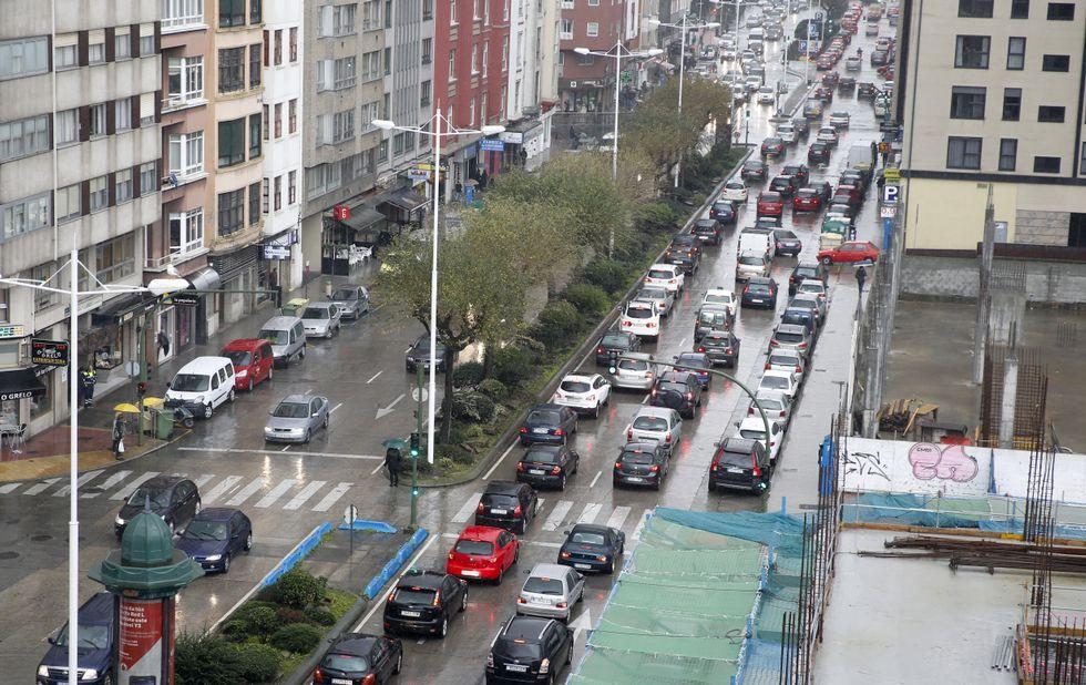 Los problemas de tráfico también fueron constantes en Ramón y Cajal.