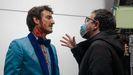 Miki Esparbé y Paco Plaza en la grabación de «Freddy», tercer capítulo de la serie «Historias para no dormir»