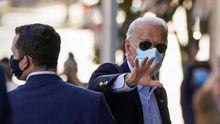 Biden,a su llegada este jueves a una comparencencia con la prensa para hablar de la crisis del covid