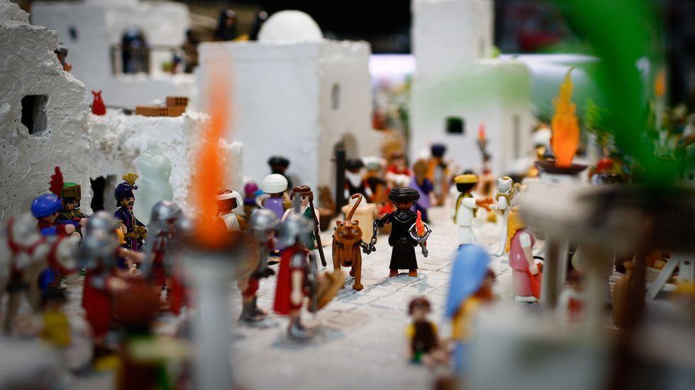 En Clickfer Gorgoso han hecho un belén con muñecos de Playmobil