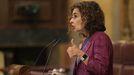 María Jesús Montero interviniendo en el pleno del Congreso este miércoles