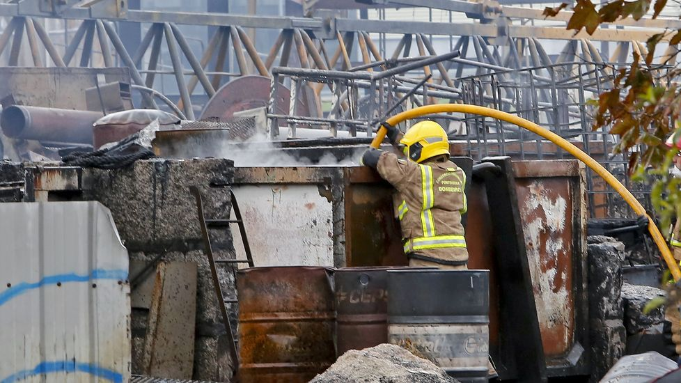 Incendio en el astillero de Placeres