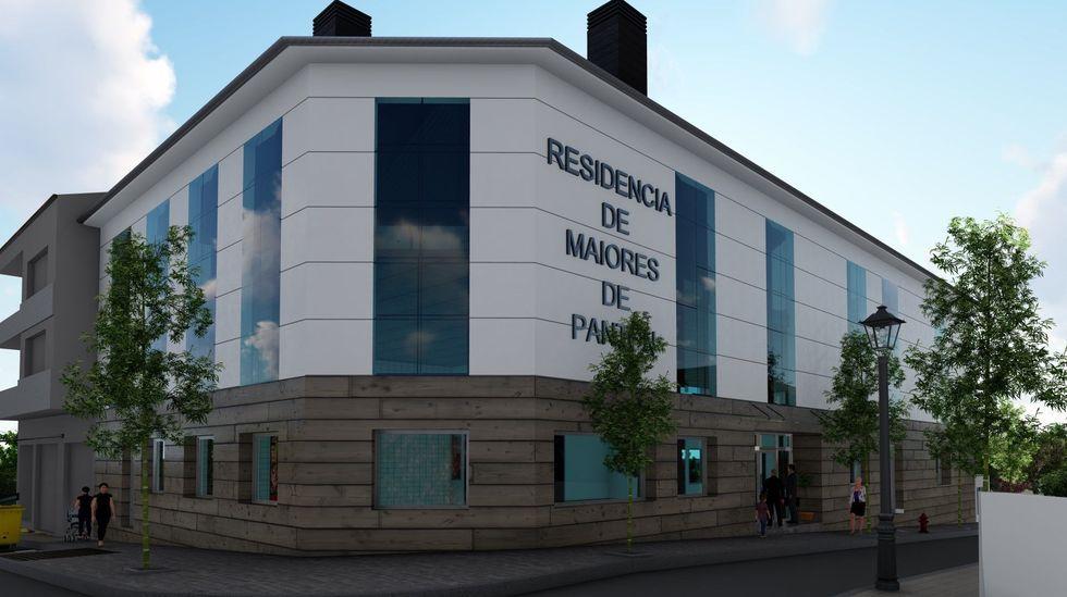Recreación virtual de la fachada de la futura residencia de Pantón, tal como está diseñada en el proyecto