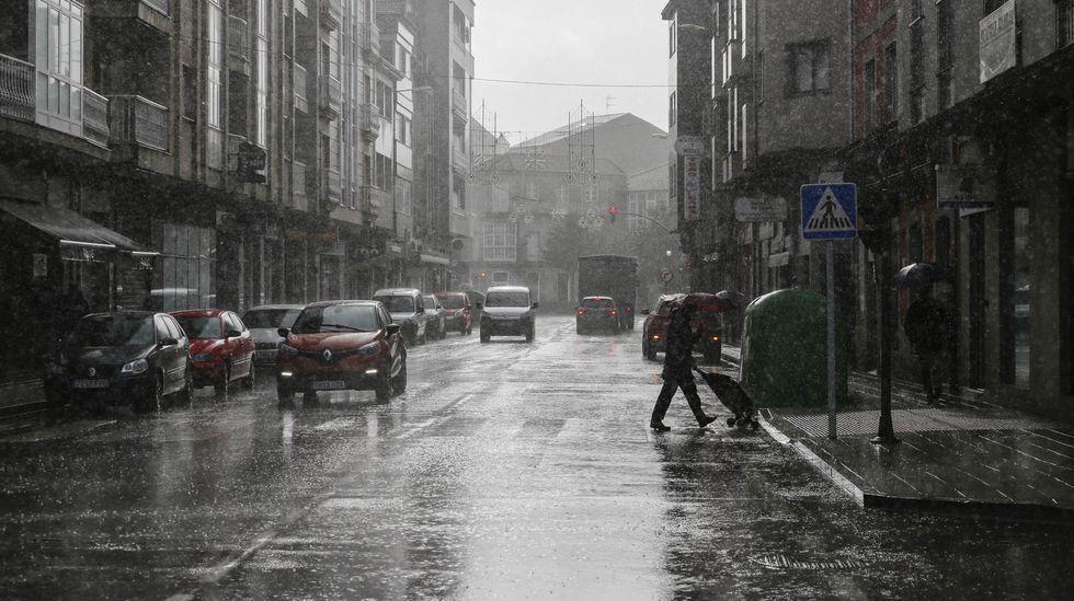 La lluvia fue intensa en el sur de la provincia. En la imagen, Xinzo