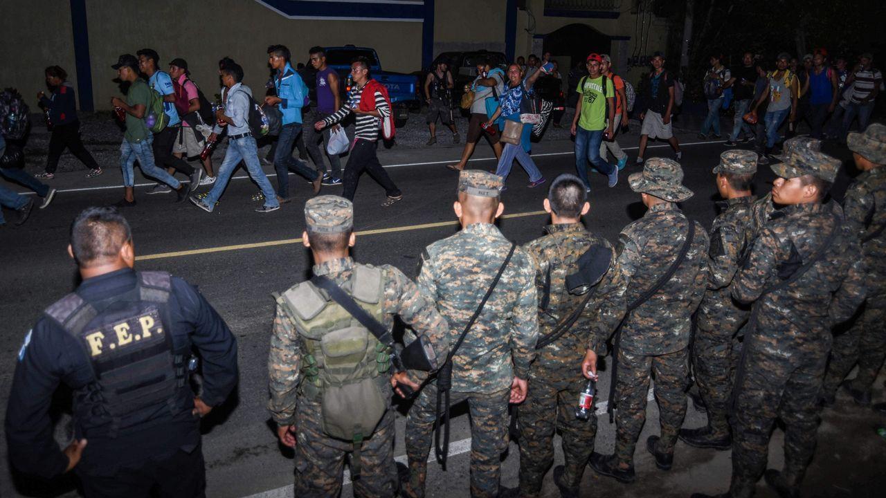 Caravana de inmigrantes hondureños