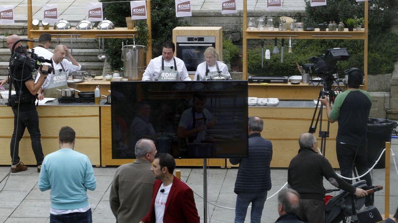 Imaxe de arquivo da gravación en Monforte do concurso de cociña «Come a comarca», de Voz Audiovisual