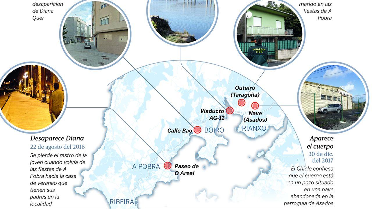 Las localizaciones claves en el caso de Diana Quer