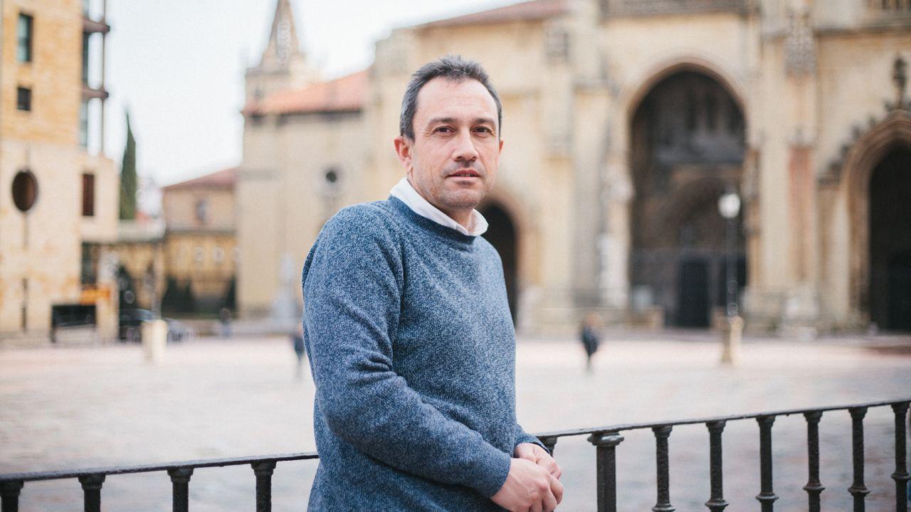El coordinador general de IU de Asturias, Ovidio Zapico