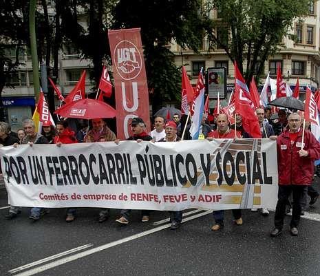 Imagen de la manifestación de A Coruña.