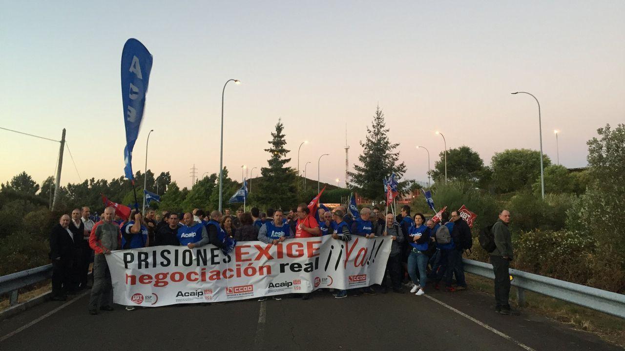 Manifestación de funcionarios de prisiones.El excomisario Villarejo permanece en prisión preventiva