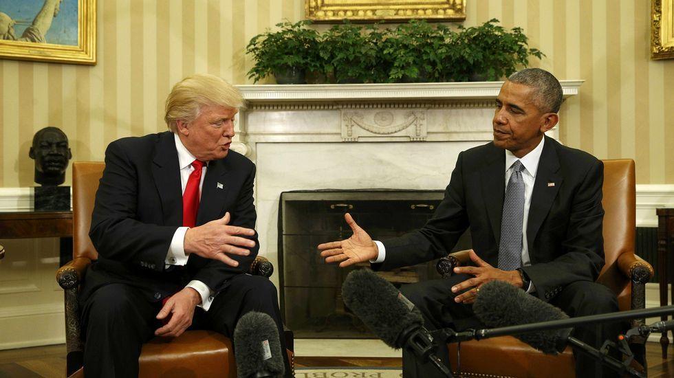 Obama, «alentado» tras su reunión con Trump