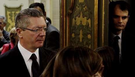 Ruiz-Gallardón, promotor de la ley que recorta la justicia universal, y el juez Ruz el pasado día 7.