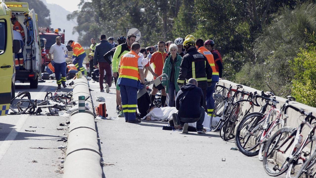 El accidente más grave de los últimos años con ciclistas ocurrió el 12 de marzo del 2016 en A Guarda. Hubo dos muertos