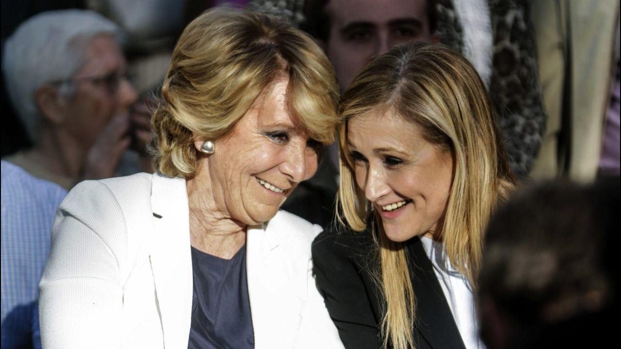 Anticorrupción pide imputar a Aguirre y a Cifuentes por la financiación ilegal del PP de Madrid.Díaz Ayuso con el vicepresidente de la Asamblea de Madrid, Ignacio Aguado