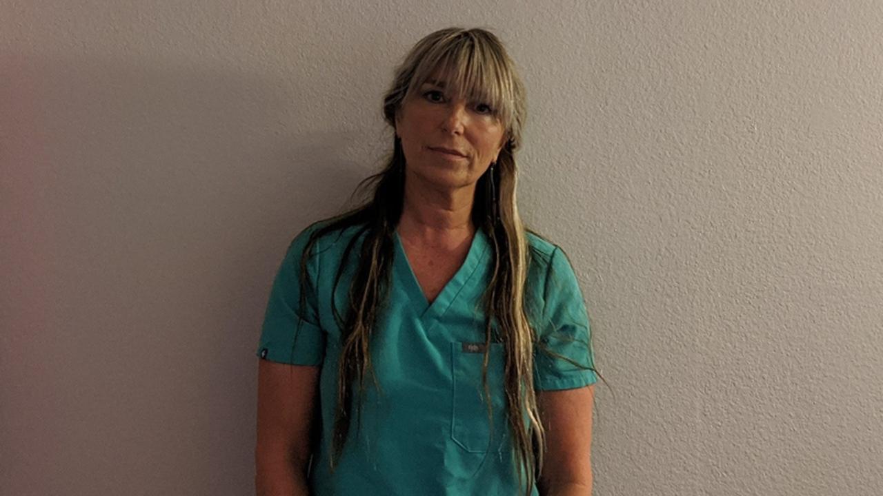 Carmen Blanco en su puesto de trabajo