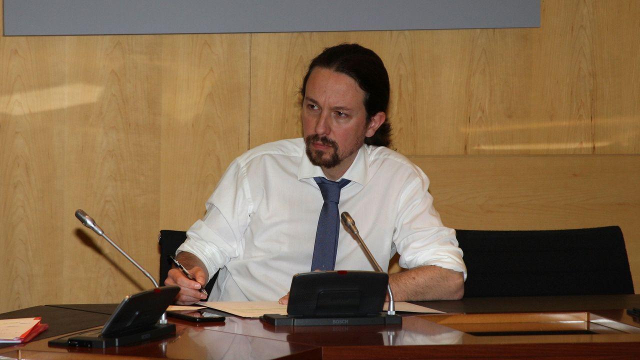 Pablo Iglesias, en su despacho en el ministerio