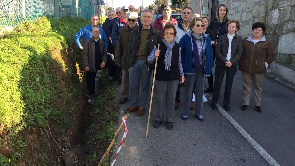 Baldosas de un paso de peatones en Oviedo