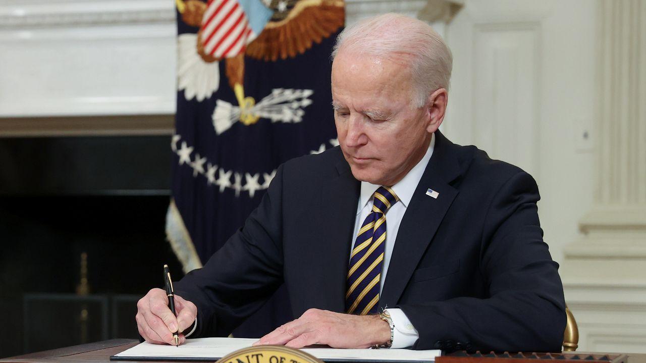 Joe Biden, en su despacho de la Casa Blanca