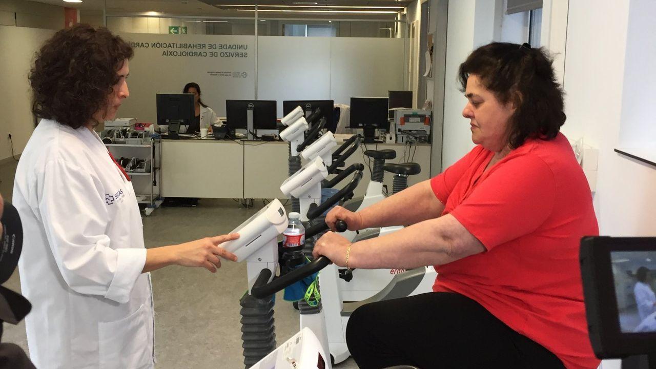 Imagen de archivo de la unidad de rehabilitación cardíaca del HULA, que cuida especialmente el ejercicio físico