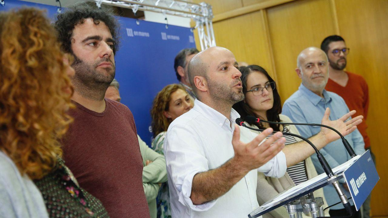 Antón Cancelas en su estudio de Vigo