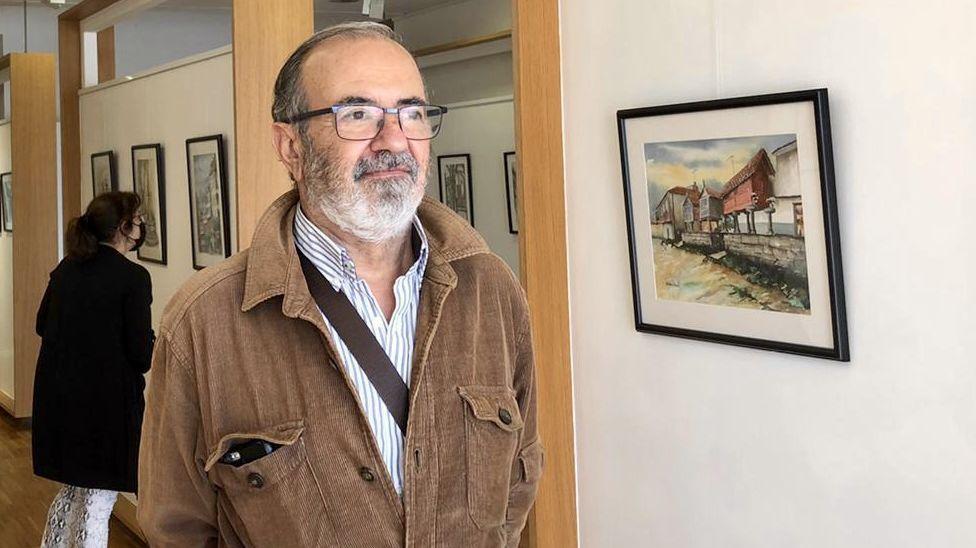 Julián Morales expone acuarelas en A Coruña