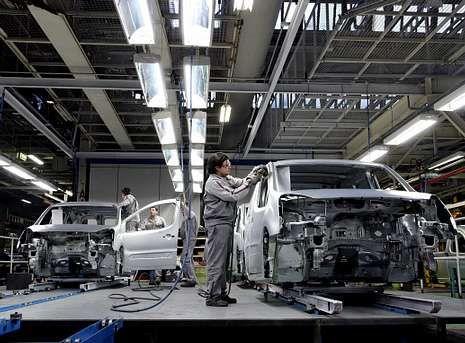 Centro de producción de PSA Peugeot Citroën de Vigo, en donde se ensambla el nuevo C4 Picasso.