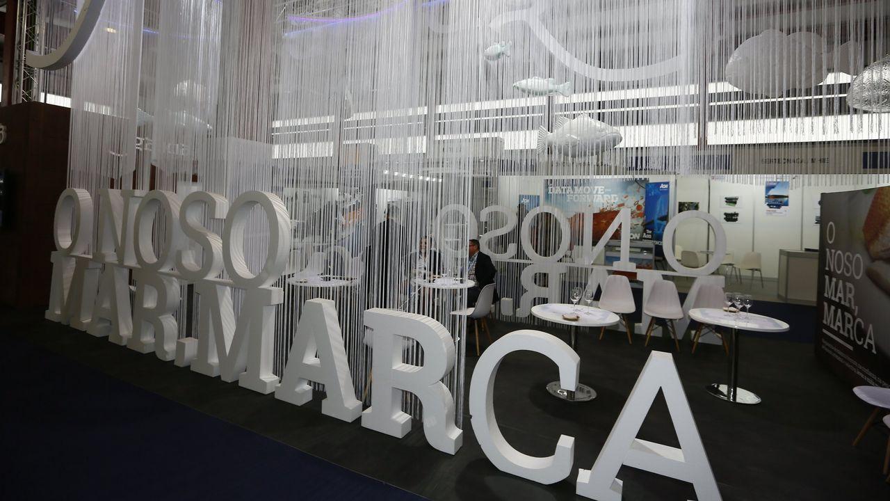 El puesto de la Consellería do Mar en la última edición de Expomar, celebrada en Burela en mayo del 2019