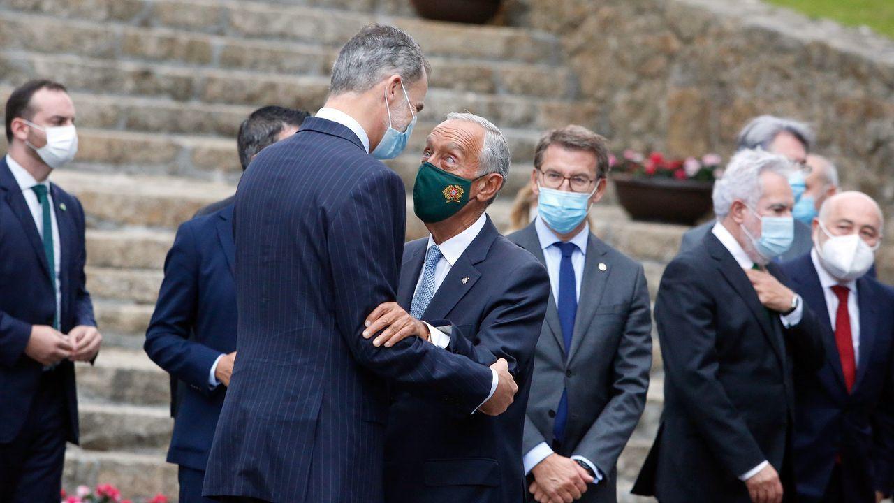El Foro La Toja Vínculo-Atlántico se inauguró el jueves con la presencia del rey Felipe VI y del presidente de Portugal, Marcelo Rebelo de Sousa
