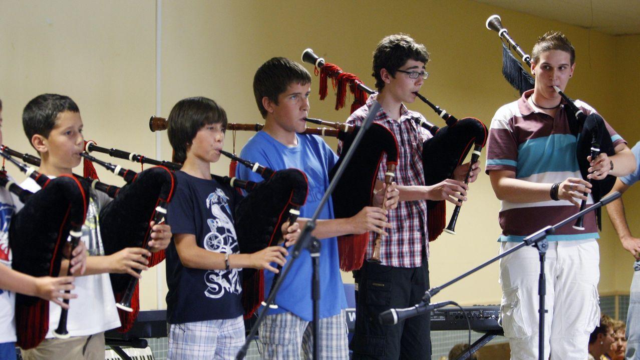 Un festival de fin de curso en la escuela de música Samoeiro, en una imagen de archivo