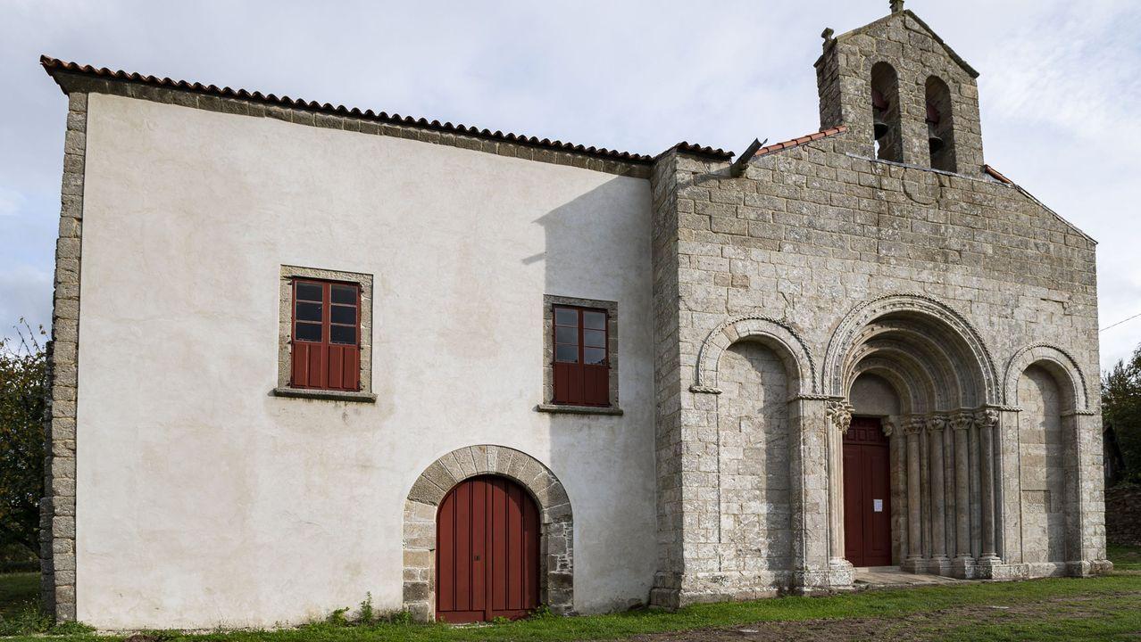 Este año se licitaron las obras que transformarán en un albergue del Camino de Invierno el antiguo palacio obispal situado junto a la iglesia románica de Diomondi, en O Saviñao