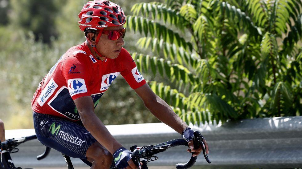 La última etapa de la Vuelta, en imágenes.Subida al Angliru en la Vuelta  España 2011