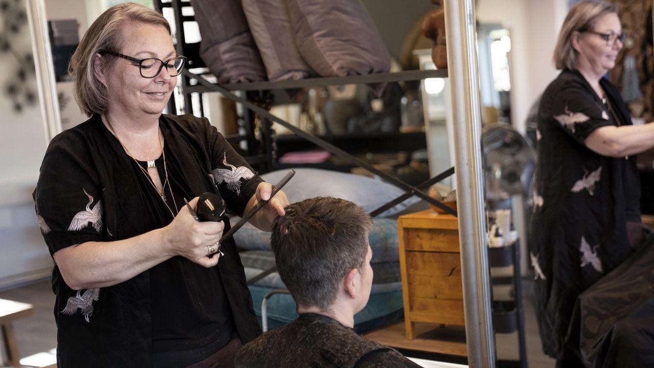 Las peluquerías llevaban cerradas en Dinamarca un mes