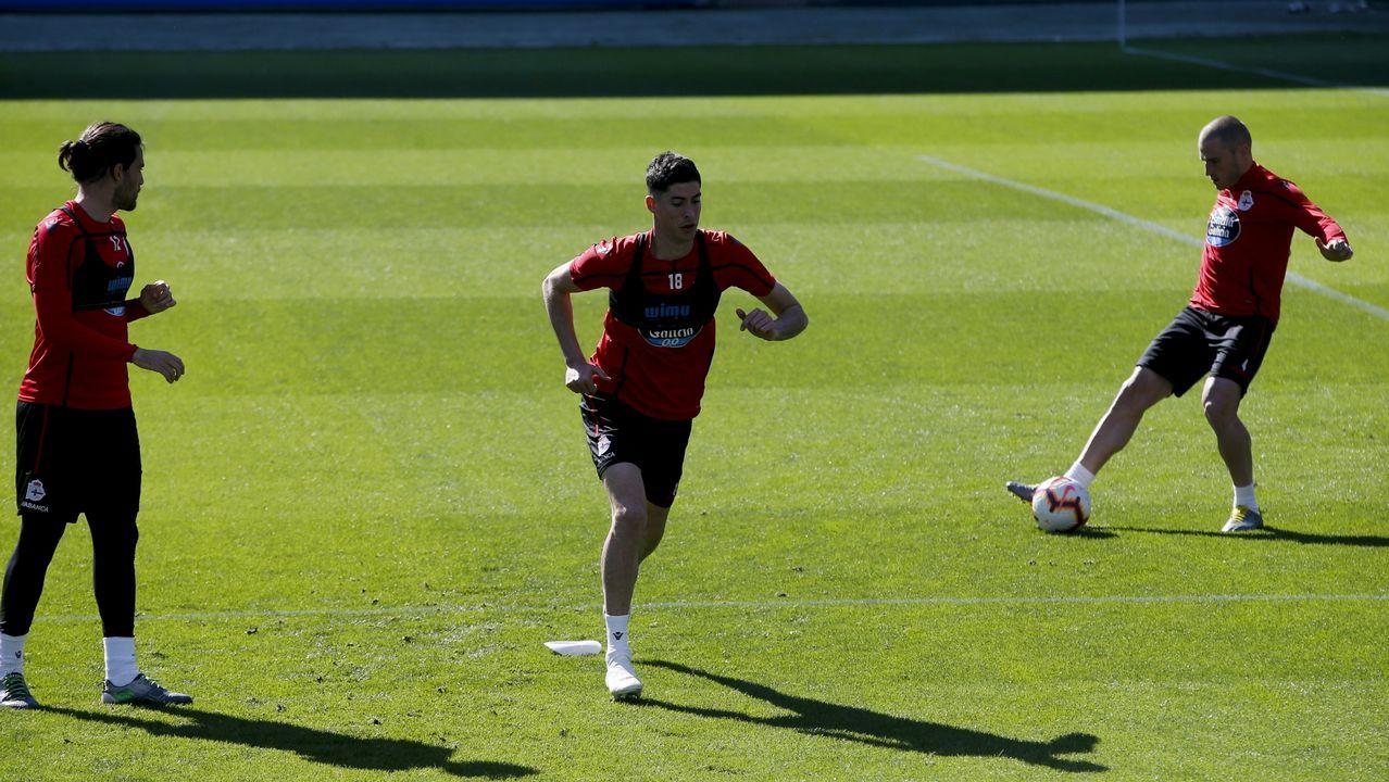 Las mejores imágenes del Dépor - Rayo Majadahonda.Didier Moreno jugó de mediocentro defensivo contra el Almería y en la segunda parte de Oviedo