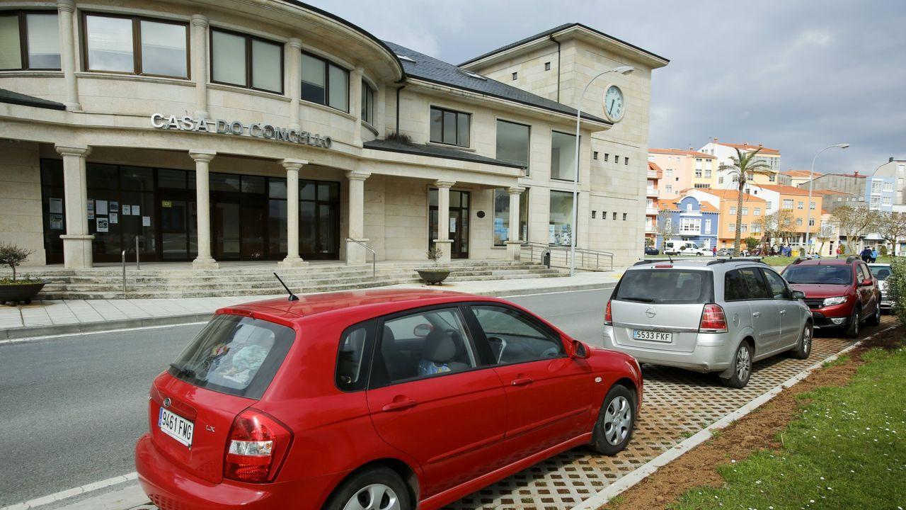 Las espectaculares imágenes que deja Fabien en Ferrol.Playa de Meirás