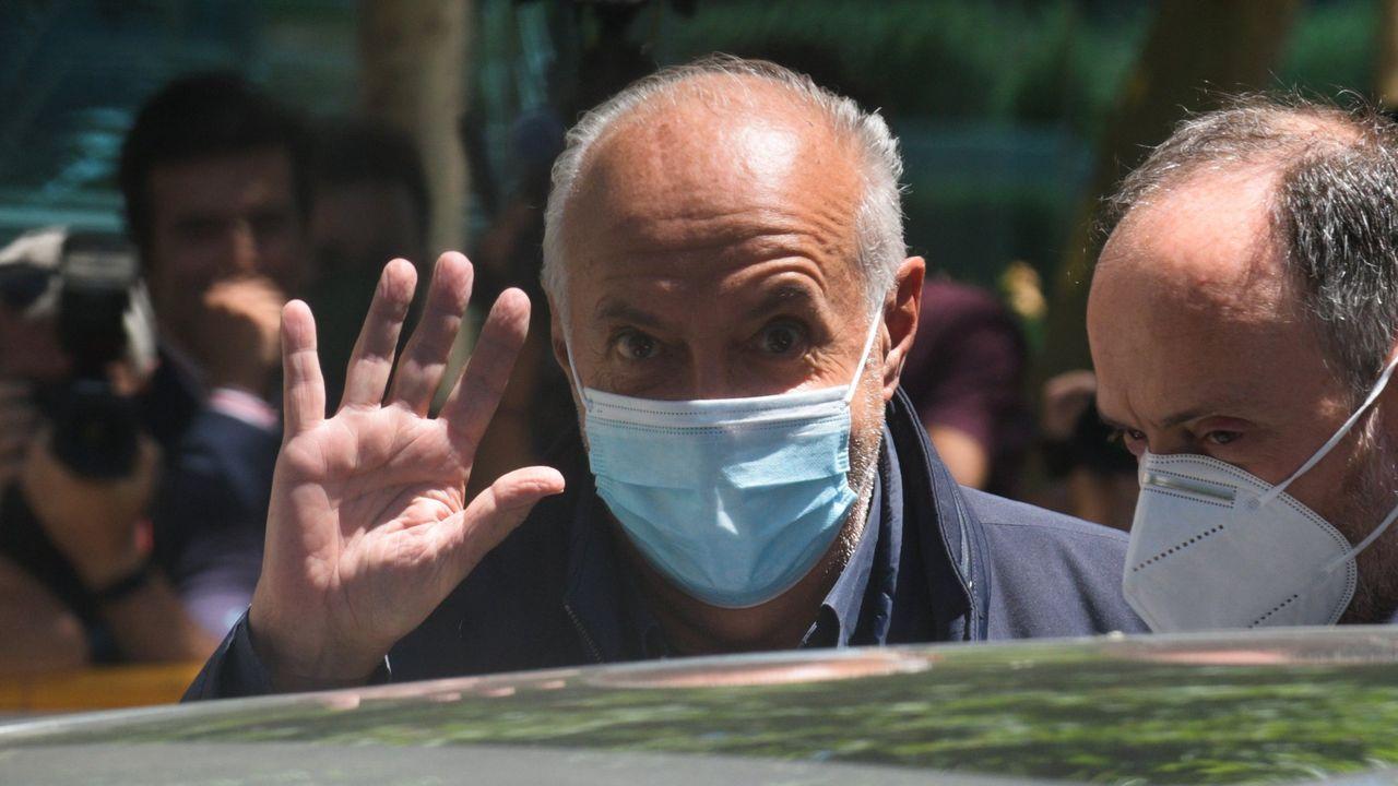 José Luis Moreno, el pasado día 1, tras quedar el libertad con fianza