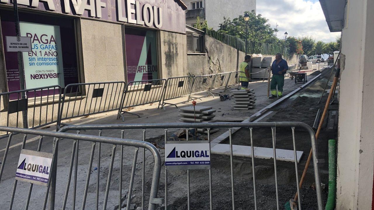 Estado de las obras en la calle Ponte