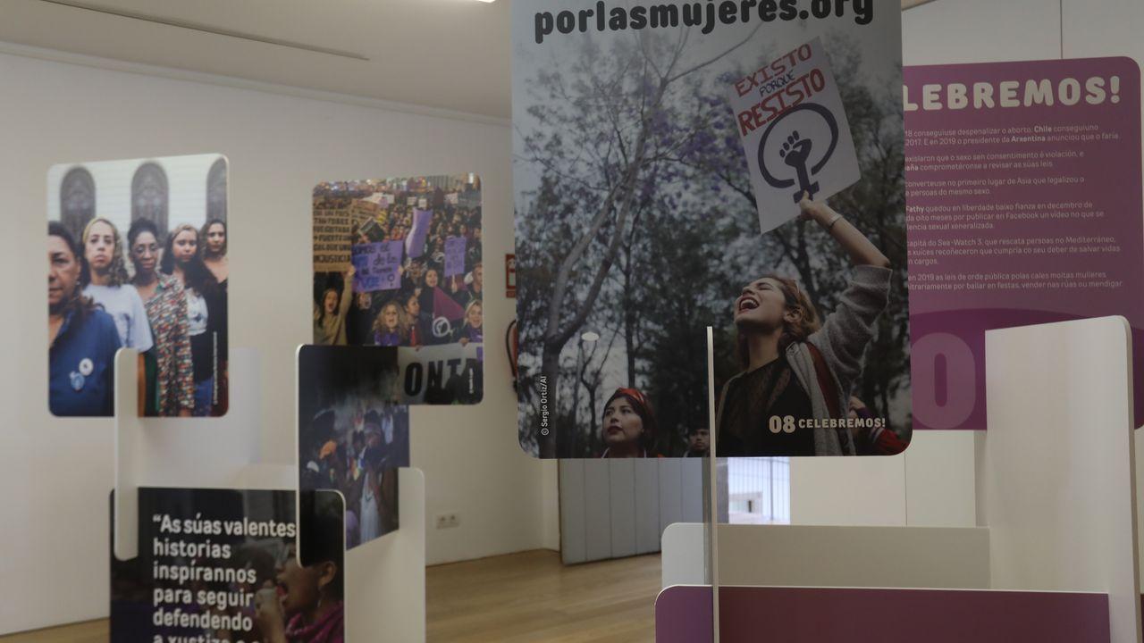 La exposicion de Amnistía Internacional «Mulleres en Loita» sigue en O Vello Cárcere hasta el día 2