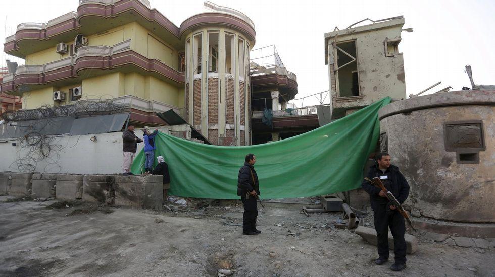 Funeral por los agentes fallecidos en Kabul