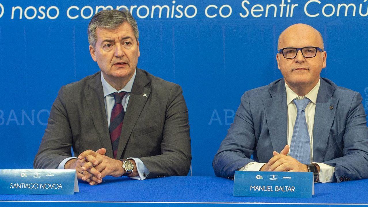 Santiago Novoa, de Abanca, y Jose Manuel Baltar, presidente de la Diputación