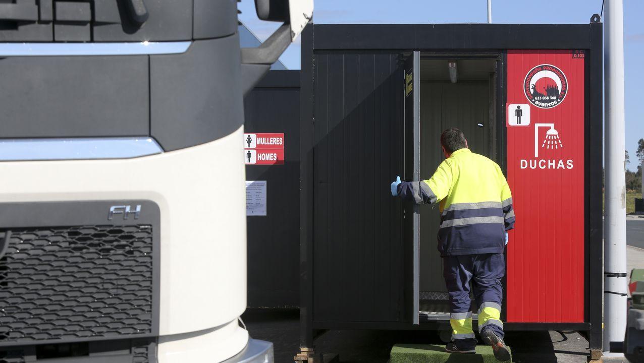 Nuevos servicios para los camioneros en el polígono de Río do Pozo, en Narón